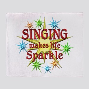 Singing Sparkles Throw Blanket