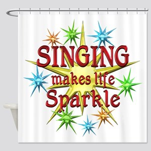 Singing Sparkles Shower Curtain