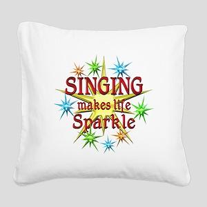 Singing Sparkles Square Canvas Pillow