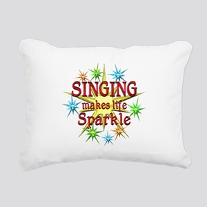 Singing Sparkles Rectangular Canvas Pillow