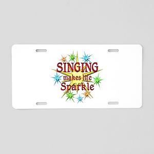 Singing Sparkles Aluminum License Plate