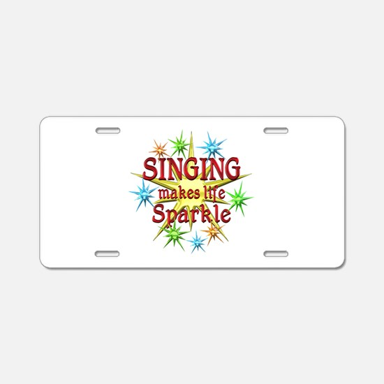 Singing Sparkles Aluminum License Plate