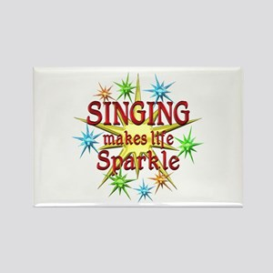 Singing Sparkles Rectangle Magnet