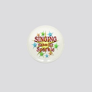 Singing Sparkles Mini Button
