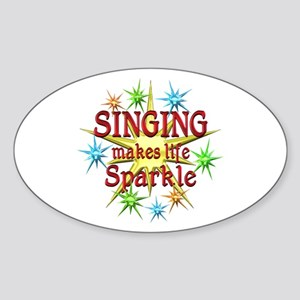 Singing Sparkles Sticker (Oval)