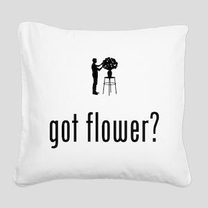 Florist Square Canvas Pillow