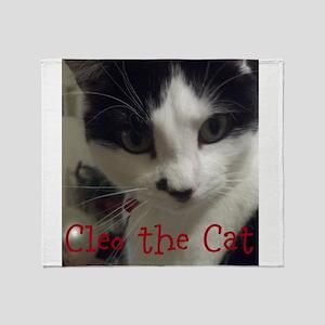 Cleo the Cat tshirt Throw Blanket