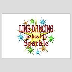 Line Dancing Sparkles Large Poster