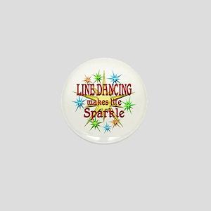 Line Dancing Sparkles Mini Button