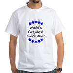 World's Greatest Godfather White T-Shirt