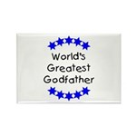 World's Greatest Godfather Rectangle Magnet (100 p