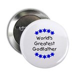 World's Greatest Godfather Button