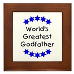 World's Greatest Godfather Framed Tile