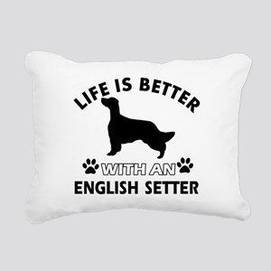 Life is better with English Setter Rectangular Can