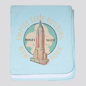 Empire State baby blanket