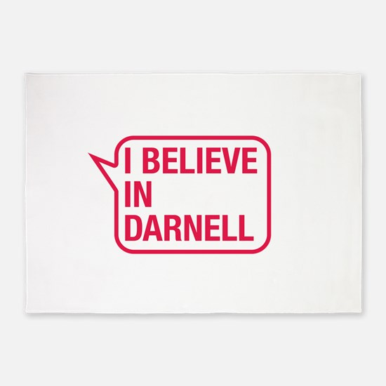 I Believe In Darnell 5'x7'Area Rug
