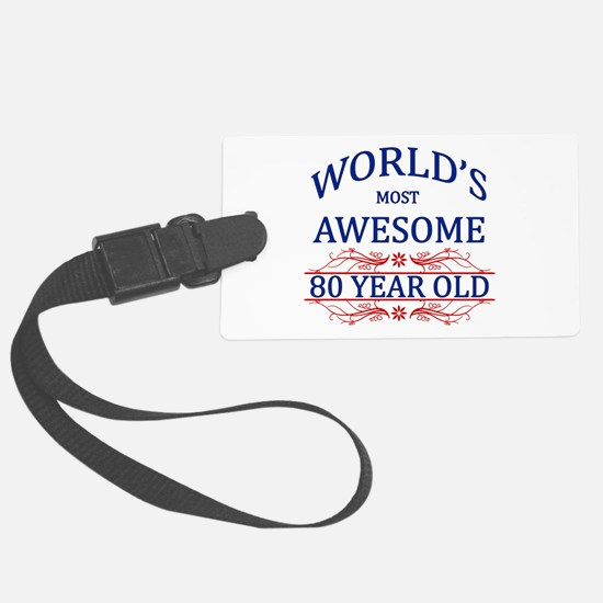 World's Most Awesome 80 Year Old Luggage Tag