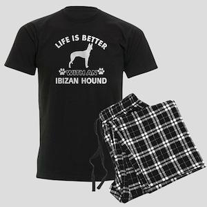 Life is better with Ibizan Hound Men's Dark Pajama