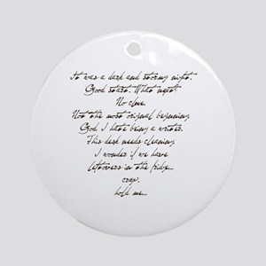 Writer's Block (Dark & Stormy Ornament (Round)