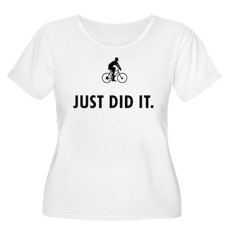 Cycling Women's Plus Size Scoop Neck T-Shirt