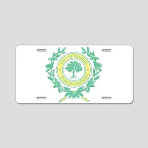 Vintage Raleigh North Carolina Aluminum License Pl