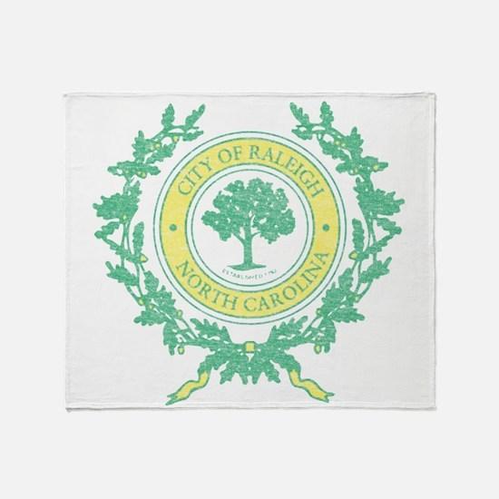 Vintage Raleigh North Carolina Throw Blanket