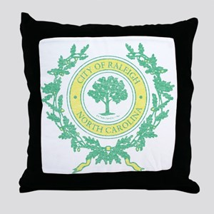 Vintage Raleigh North Carolina Throw Pillow
