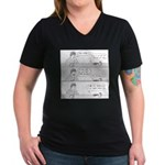 Man-Spider Women's V-Neck Dark T-Shirt