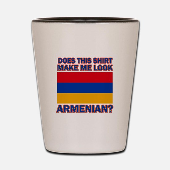 Armenian flag designs Shot Glass