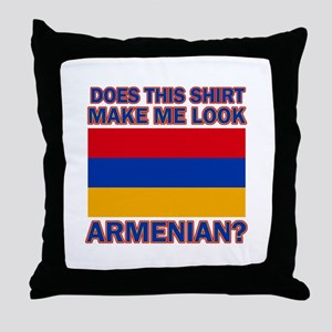 Armenian flag designs Throw Pillow