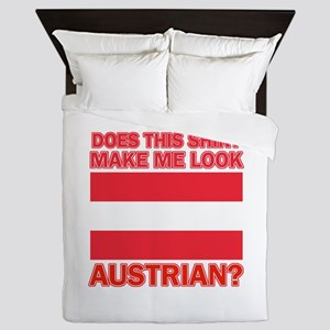 Austrian flag designs Queen Duvet