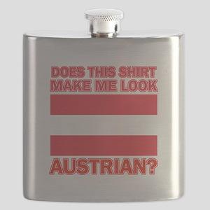 Austrian flag designs Flask
