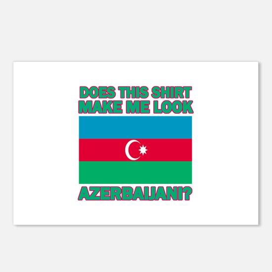 Azerbaijani flag designs Postcards (Package of 8)