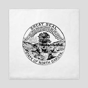 Vintage North Dakota Seal Queen Duvet