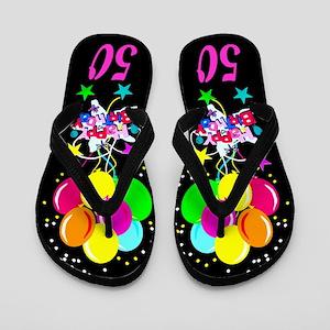 FANCY 50TH Flip Flops