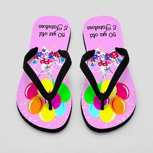 OUTSTANDING 50TH Flip Flops
