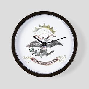 North Dakota Vintage State Flag Wall Clock