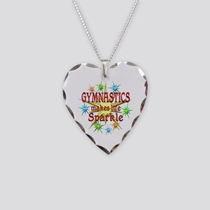 Gymnastics Sparkles Necklace Heart Charm