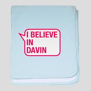 I Believe In Davin baby blanket