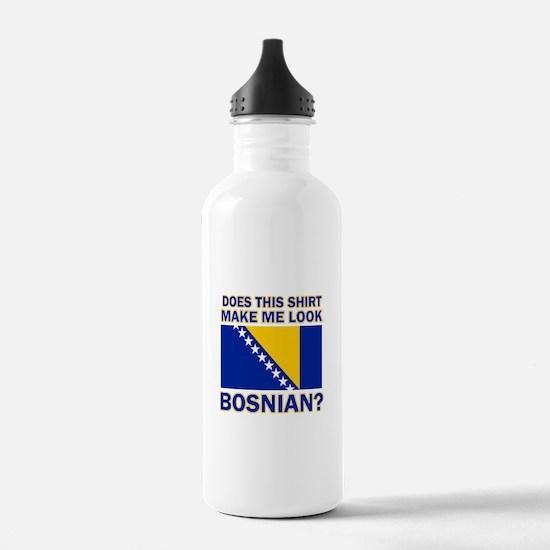Bosnian flag designs Water Bottle