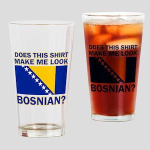 Bosnian flag designs Drinking Glass