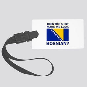 Bosnian flag designs Large Luggage Tag