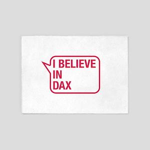 I Believe In Dax 5'x7'Area Rug