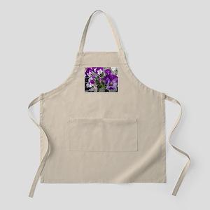 Purple flower photo Apron