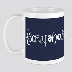 { Scrapaholic } Mug - Blue