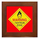 Tantrum Zone Framed Tile