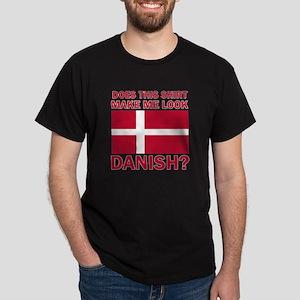 Danish flag designs Dark T-Shirt