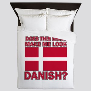 Danish flag designs Queen Duvet