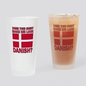 Danish flag designs Drinking Glass