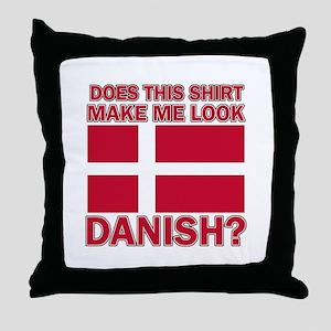 Danish flag designs Throw Pillow